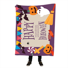 Halloween Beds Fleece Blanket for Adult Kids 3d Pumpkin Velvet Plush Throw Soft Festival Bedspreads
