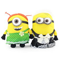 2pc/Lot Despicable ME 2 Minions 25cm Pelucia Movie Plush Maid Outfits Green Apron Stuff Toys For Children Gift