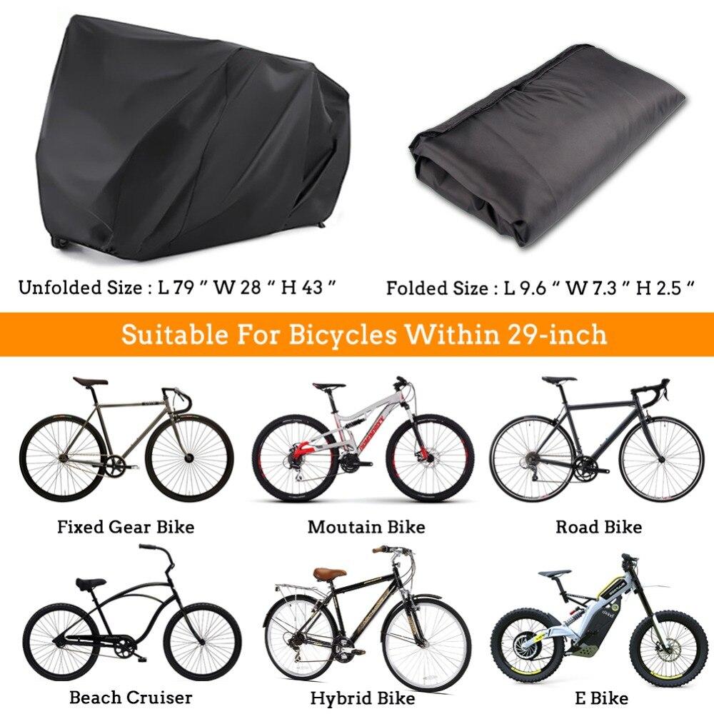 Outdoor Storage Covers Mountain City Bike Top-spring Waterproof Bike Bicycle Cover Beach Cruiser Bike L//XL Size Road Bikes