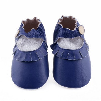 Wholesale 100pairs/lot Genuine Leather Baby Moccasins shoes Fringe Mary Jane Girls Moccs Newborn Baby firstwalker Anti-slip shoe