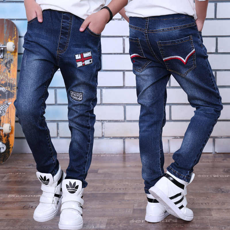 2019 Spring and Autumn kids pants boys baby Stretch joker jeans children jeans 4-14years