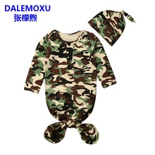 New Baby Sleeping Bag 2PC Camouflage Color Toddler Sleep Sack Soft Cotton Kids Swaddle Wrap With Hat Envelope For Newborns 0-12M