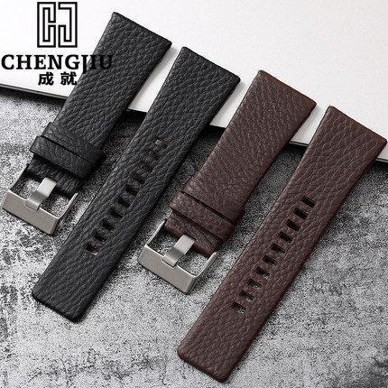 Durable 20 24 26 27 28 mm Soft Watch Bands For Diesel Watch DZ7313 DZ7322 DZ7257 Women's Men's Watch Straps With Sliver Buckle diesel dz7257