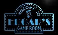 X0209-tm Эдгара домашний Театр игровая комната пользовательских персонализированные имя неоновая вывеска; оптовая продажа; Прямая поставка; в...