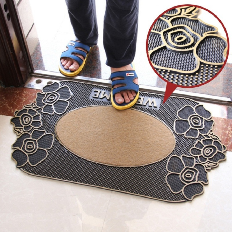 New European classical rubber non slip mats living room bedroom hall mat mat size 45 * 80cm two styles of carpet
