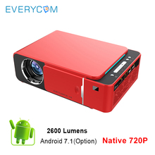 Everycom T6 LED Video Projector HD 720P 2600 Lumens Portable