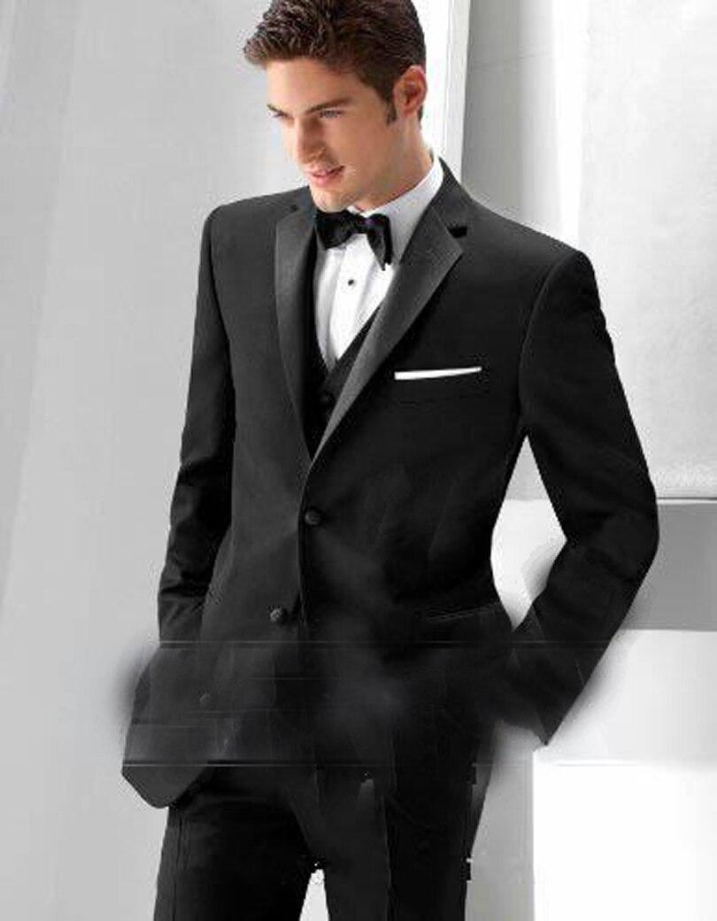 2018 Mens Wedding Suits With Pants Black Suit Custom Made ...  2018 Mens Weddi...