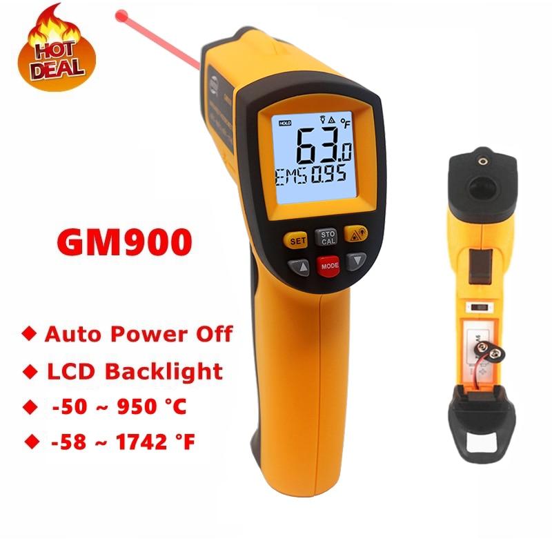 GM900 GS320 GM320 Digitale A Infrarossi Termometro IR Laster Tester di Temperatura Senza contatto a CRISTALLI LIQUIDI Pistola Stile Palmare Pirometro