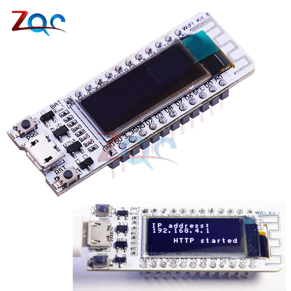 0.91'' ESP8266 WIFI Chip 0.91 inch OLED CP2014 32Mb Flash ESP 8266 Module Internet of things Board PCB NodeMcu for Arduino IOT