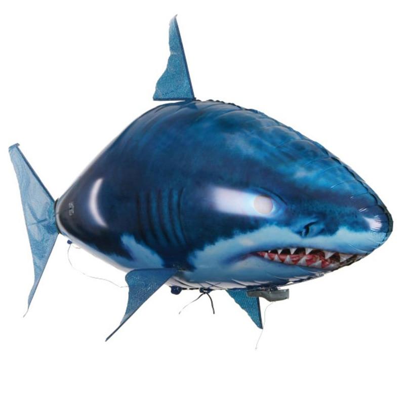 ATTOP de tiburón, felpa juguete tiburón Control remoto Drone peces volando payaso Nemo peces globos radio Animal juguetes Drone mejor chico de juguete de regalo