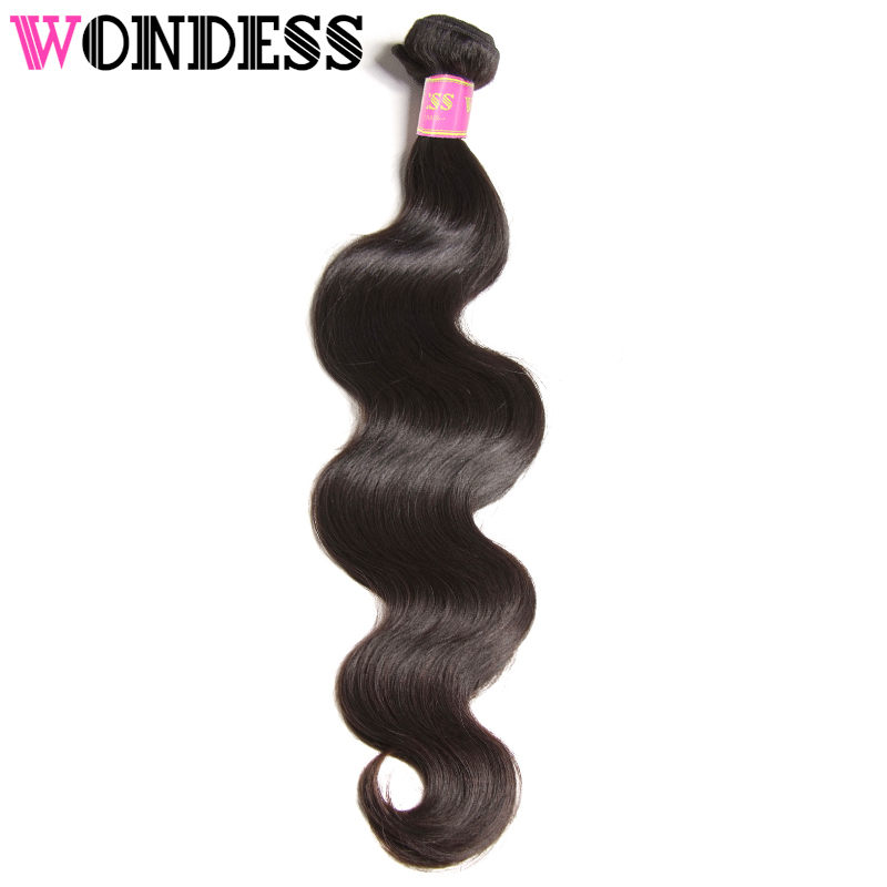 WONDESS HAIR Brazilian Body Wave Bundles 4pcs/3pcs/1pcs 100% Virgin Hair 8-30inch Human Hair Extensions Natural Color