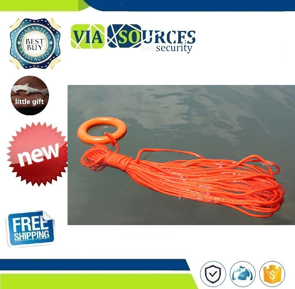 New Arrivals Durable Lanyard Emergency Drowning Rescue Rope Outdoor Sports Hiking Swimming Survival Lifesaving Lifeline 30m