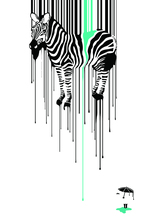 Pop art poster cartoon poster canvas painting picture animal scenery prints giant prints canvas painting Zebra passion prints