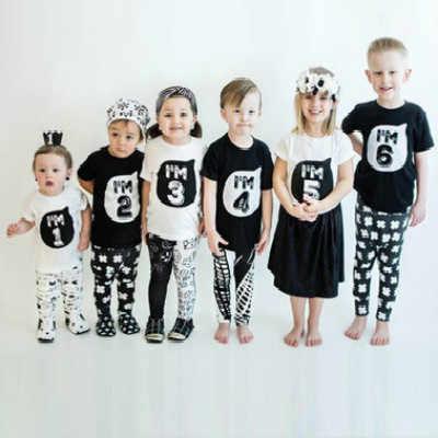 1 2 3 4 5 ปีวันเกิดคริสต์มาสผ้าฝ้ายเสื้อยืดเด็ก t เสื้อเด็กเสื้อผ้าเด็ก tee เสื้อผ้าเครื่องแต่งกายสำหรับเสื้อเด็ก