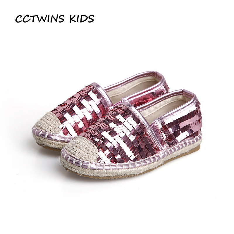 CCTWINS KIDS 2017 Toddler Fashion Pu Leather Glitter Shoe Baby Girl Kid Espadrille Children Silver Slip On Sequins Flat G1490 toddler shoe gauge children foot measurer yellow