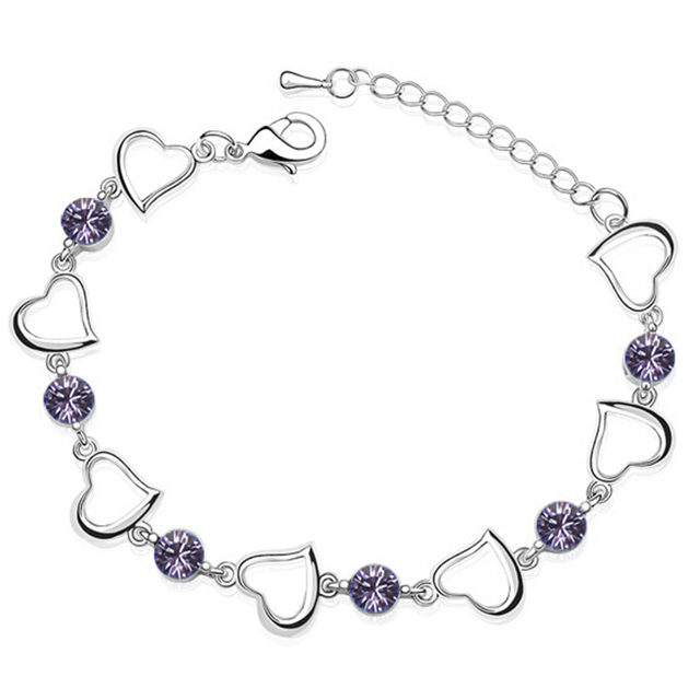 Bijouterie Crystal from Swarovski Elements White Gold Plated Bracelet