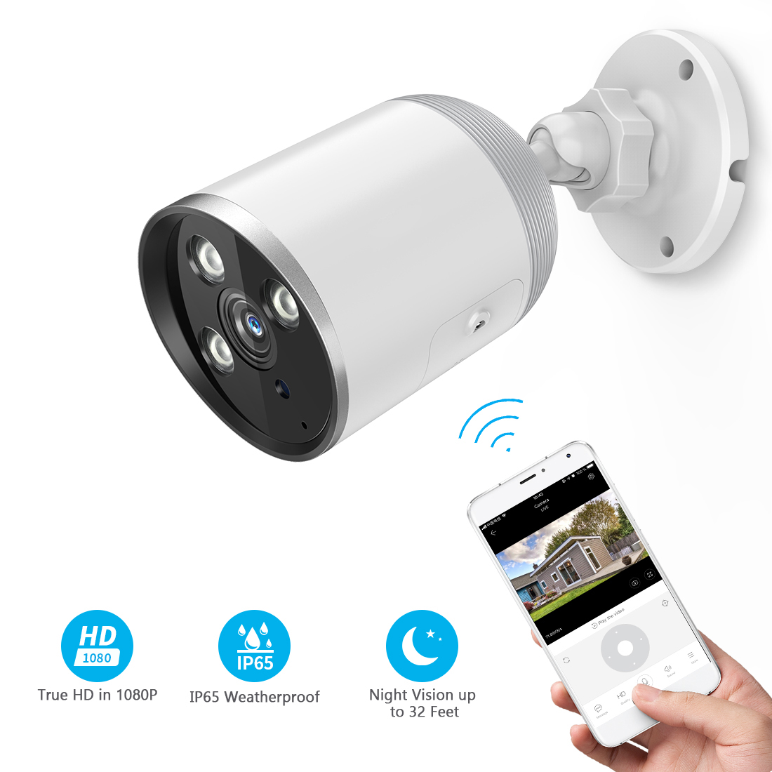 1080P IP66 Waterproof Outdoor Bullet Camera - YCC365 6