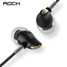 Rock In Ear Zircon Stereo Earphone 3 5mm AUX Headset With Mic Balanced Immersive Bass Earphones