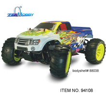RC CAR 1/10 HSP RC Car With Nitro Power 4WD Off Road Monster Truck 18CXP ENGINE (item no. 94108)