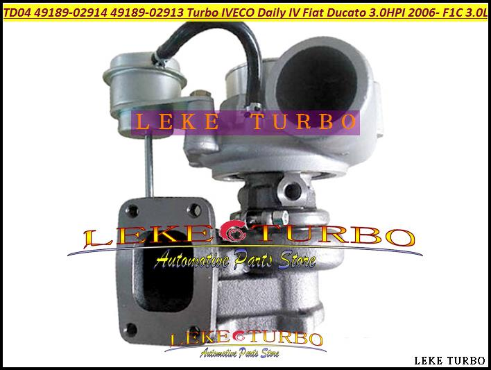 Turbo TD04 49189-02914 49189-02913 49189-02912 504137713 504340177 504092197 For IVECO Daily IV For Fiat Ducato 3.0L HPI 06- F1C turbo for iveco daily truck massif fiat ducato 2006 f1c euro 4 3 0l td04hl 49189 02914 49189 02913 02912 504340177 turbocharger