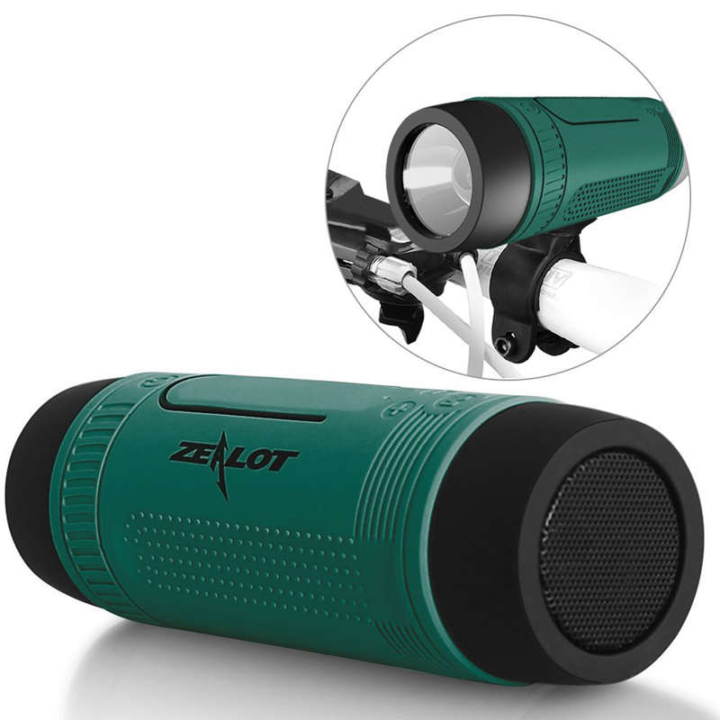 Waterproof Subwoofer Music Bluetooth Speakers Portable Mini Wireless Bicycle Hoparlor 4000mAh Power Bank+LED light +Bike <font><b>Mount</b></font>