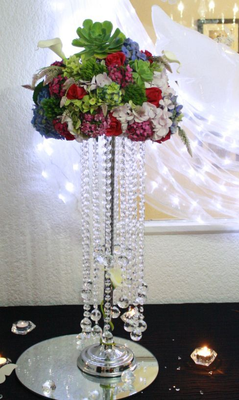 Free Shipping 28inch Tall Wedding Flower Stand Table