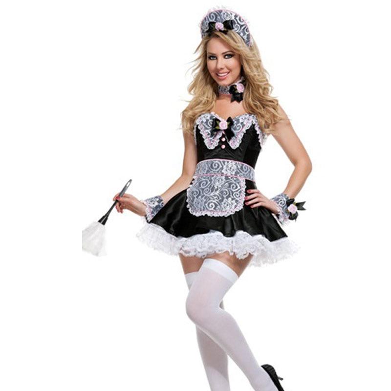 Косплэй Deluxe сексуальный Французский костюм горничной Sexy Girl костюм пиво пятно Алиса костюм