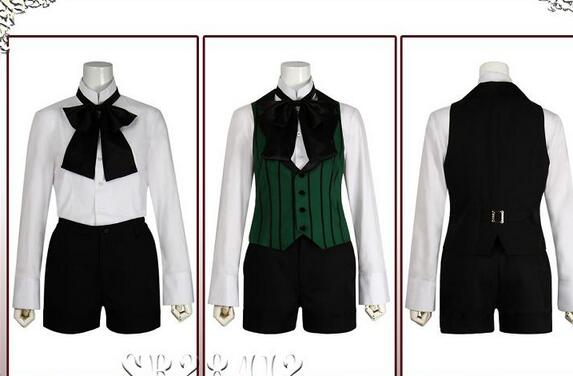 Anime Black Butler Season 2 Earl Alois Uniform Trancy Cosplay Party Costume Custome With Ring
