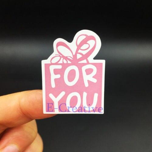 150 unids/lote 25*35mm Color rosa para ti pegatinas DIY hecho a mano para regalo pastel para hornear pegatina de sellado