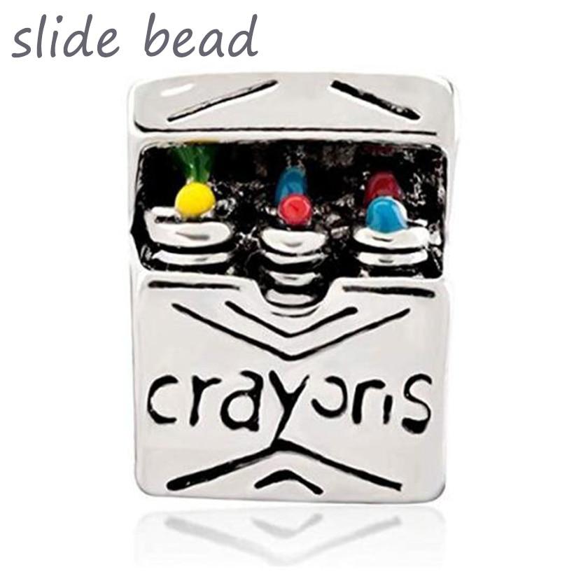 Perle de diapozitive Nou pentru fabricarea bijuteriilor. Perle de farmec de creion colorat. potrivit pentru brățara Pandora