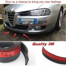 For Alfa Romeo MiTo AR Furiosa 2007~Onwork Car Surround Front Lip / Body Chassis Side Protection / Auto Modification Bumper Lip
