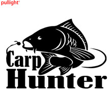 Carp Hunter Vinyl Car Styling Fishing Window Decal Sticker Motorcycle SUVs Bumper Car Window Laptop Car Stylings 26 6 2cm car sticker helmet for ants fun deep sticker motorcycle suvs bumper car window laptop car styling vinyl decals