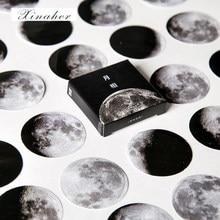 45 unids/caja color natural Luna planeta pegatina de papel para decoración pegatinas DIY artesanía diario pegatina para planificador de colección de recortes