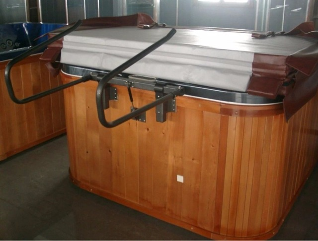 Hot tub cover basket to lift and store your spa cover Easy-in Clamps ...