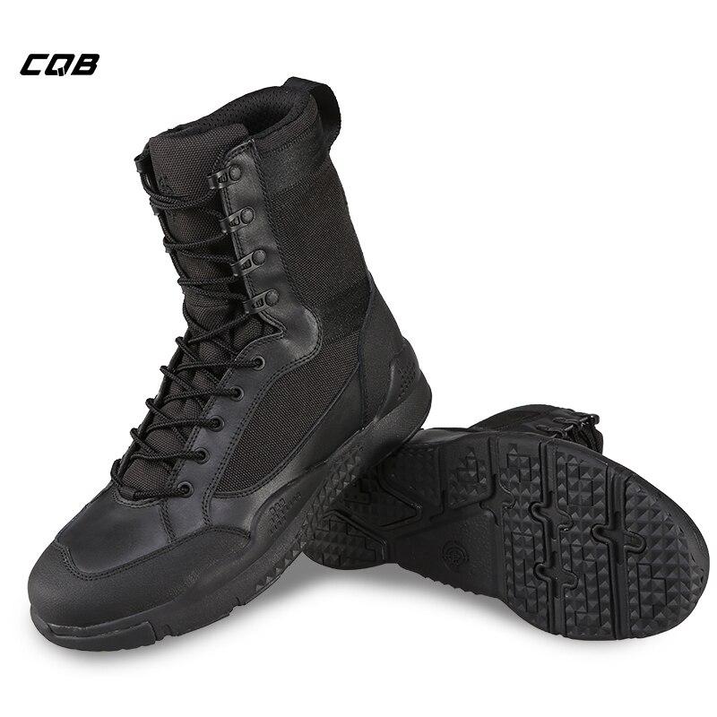 CQB Outdoor Sport Tactical Hiking Boots Scarpe da uomo traspiranti leggere ad alta resistenza per trekking arrampicata Scarpe resistenti all'usura
