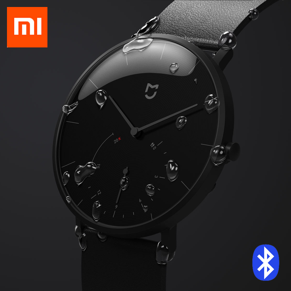 2018 Новый Xiao mi jia Смарт кварцевые часы Шагомер Smartband Bluetooth 4,0 mi Smartwatch автоматическая калибровка время mi Группа