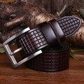 Cintos de Grife de Luxo da marca Dos Homens De Alta Qualidade Homens de Negócios Do Vintage Genuíno da Correia de Couro Puro Ceinture Cinturones Hombre Homme