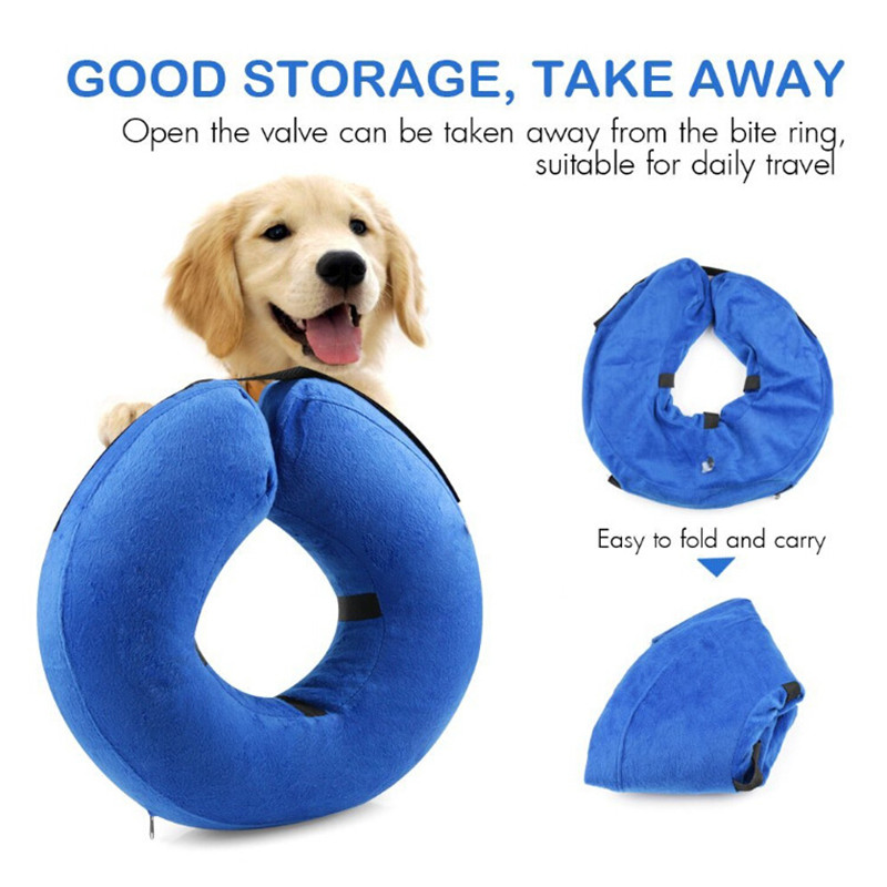Dog Cat Inflatable E-Collar Elizabethan Pet Protector Head Cone Anti-Bite Sale