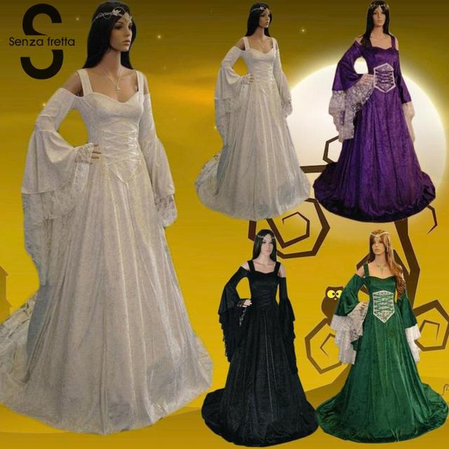 Georgian Victorian Gothic Dress Masquerade Ball Gown Reenactment Theatre Blue Dresses Renaissance Ball Gown Dress SYD0446 4