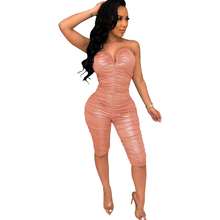 Sexy deep V-neck wrapped chest jumpsuit club party nightclub leotard 2019 summer new jumpsuit summer new best women s sexy jumpsuit two piece set backless wrapped chest hollow jumpsuit suit club party nightclub jumpsuit