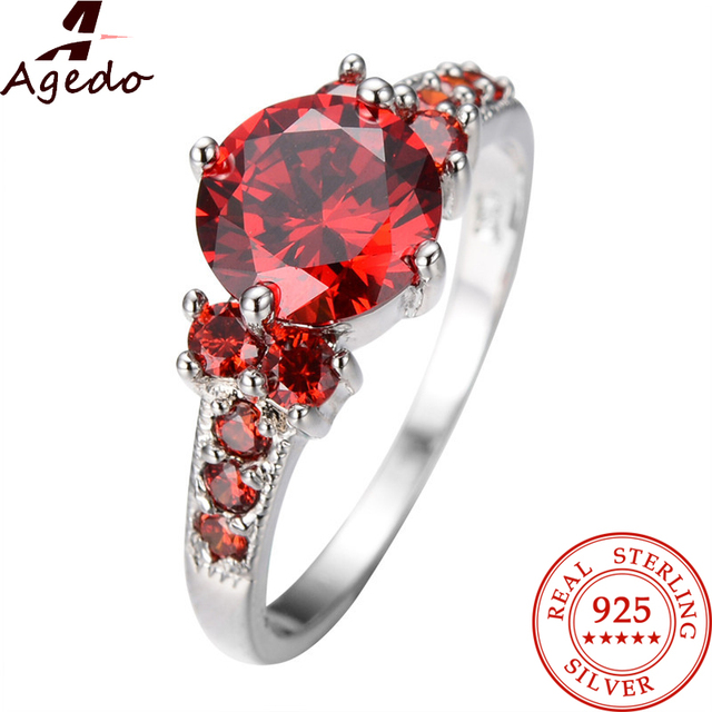 Real 925 Sterling Silver Ring Created Sapphire Rings Fine Jewelry Luxury Anniversary Wedding Rings For Women's Rings Gift Z06