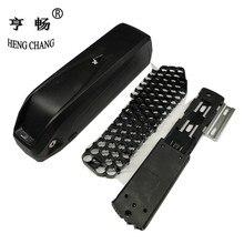 Hailong, caja de plástico de 48V 36V con soporte, batería de bicicleta, caja DIY con USB 5V, puede guardar 65 Uds. 18650