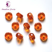 Shangquan AAA 100pcs Multi colors Pick Color Loose Beads Glass Crystal Faceted Column Bead for Jewelry making 4x8mm