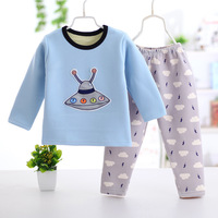 2017 New Autumn And Winter New Cotton Thermal Underwear Sets Of Children S Clothing At Home
