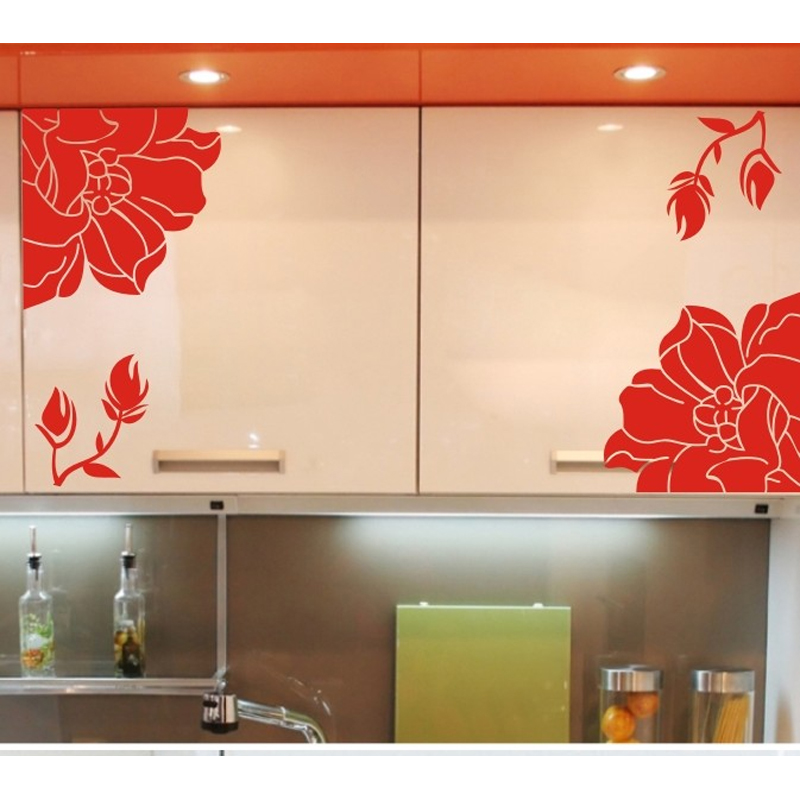 ⑧Home Decor Poster Kitchen Cabinet 웃 유 Wall Wall Stickers