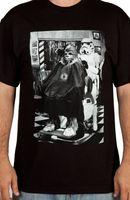 Erkek Kadın tişörtlü Star Wars Stormtrooper Chewbacca Berber Dükkanı Fotoğraf tshirt Moda Tasarım Baskı Erkekler Pamuk Tee