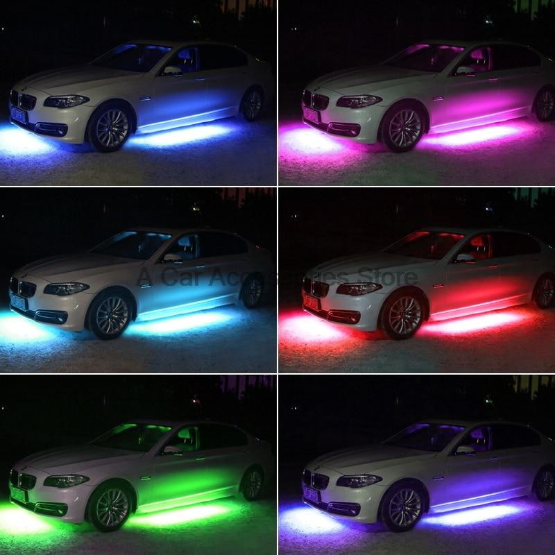 2017 Colorful Strip Under Car Tube Underglow Underbody Glow System