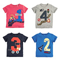 Lucky Numbers 2017 Summer Baby Boys Clothing 100% Cotton Toddler Kids Clothes Children T-Shirt Short Sleeve t Shirts Boys Blouse