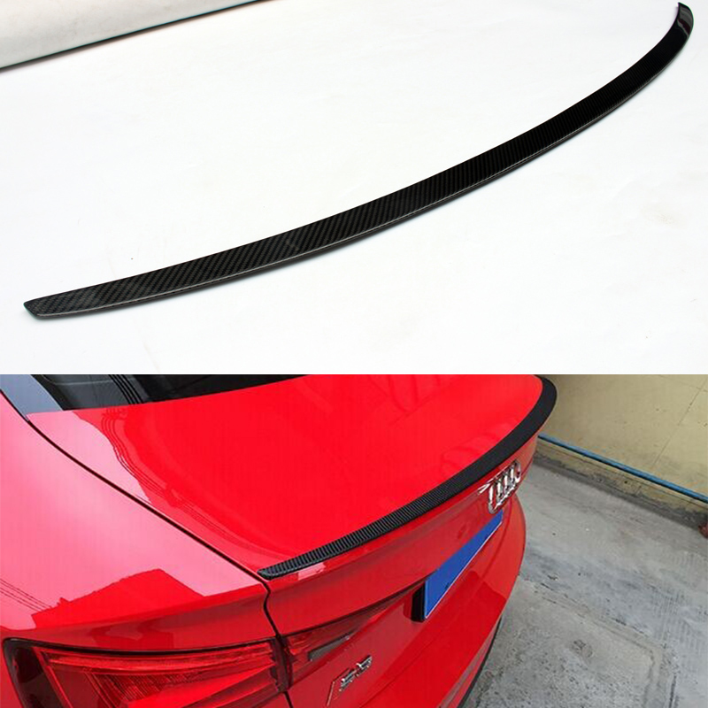 S3 Style For Audi A3 Sedan Carbon Fiber Rear Trunk Spoiler Wing 2014 2015 2016 for mercedes w205 spoiler c class w205 c180 c200 c220 c250 c300 carbon fiber rear spoiler trunk wing 2014 2015 2016 c74 style