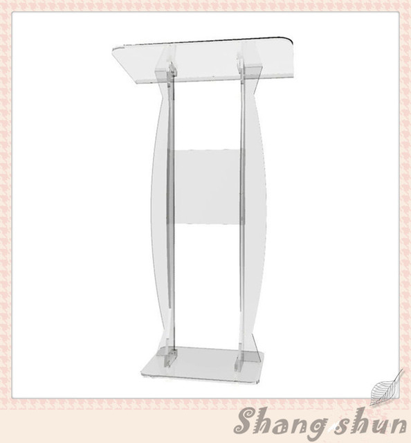Cheap Speaker Stands Pulpit Lectern Organic Glass Lectern Podium Modern Plexiglass Lectern Transparent Acrylic Lectern